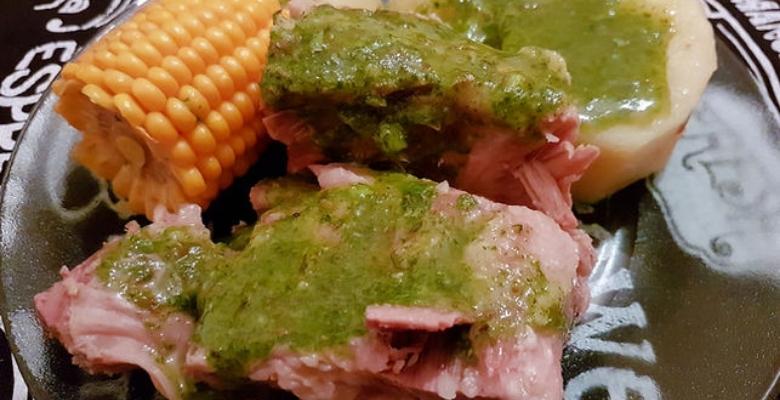 Receta Costillas con papas y mojo cilantro - Argodey Fortaleza
